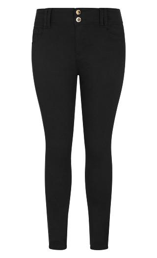 Asha Short High Rise Skinny Jean - black