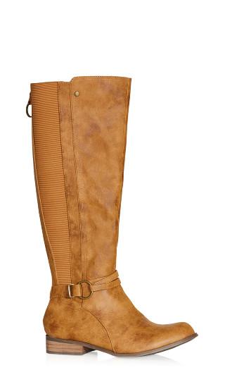 Phoebe Knee Boot - caramel