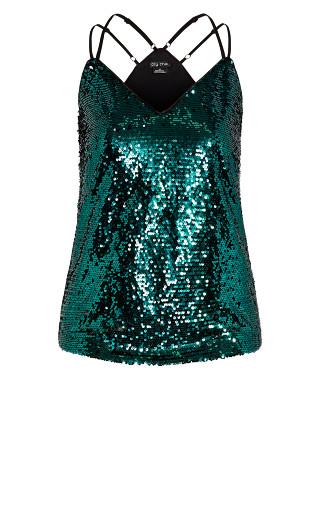 Glimmer Top - emerald