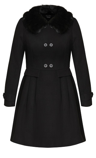 Grandiose Coat - black