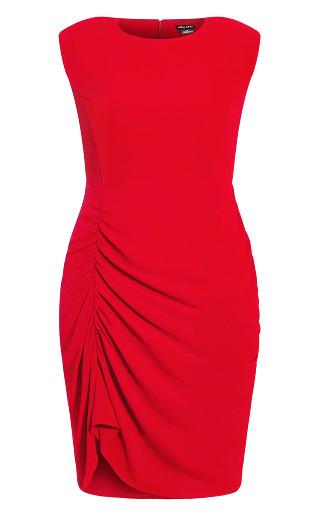 Side Split Dress - crimson