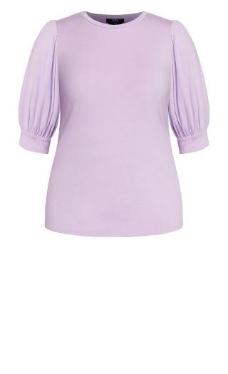Sweet Sleeve Top - lilac