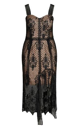 Glamorous Lace Dress - black