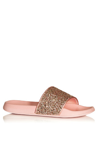 Sally Sparkle Slide - blush
