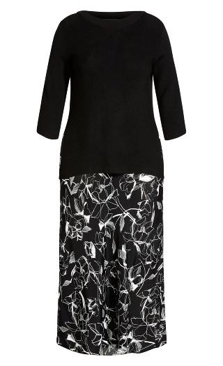 Free Hand Dress - black