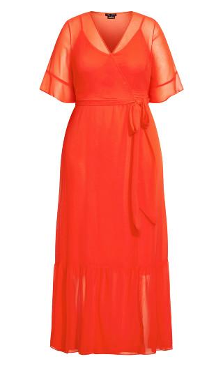 Flutter Wrap Maxi Dress - tigerlily