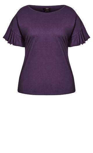 Spirit Sleeve Top - violet
