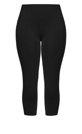 Scrunch Bum 3/4 Legging - black