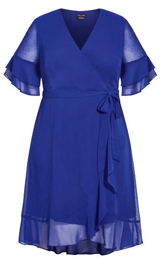 Flutter Frill Dress - sapphire