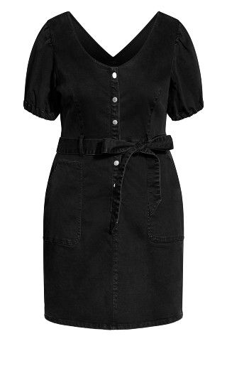 Sweet Puff Dress - black