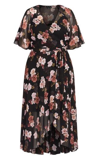 Dreamy Rose Maxi Dress - black