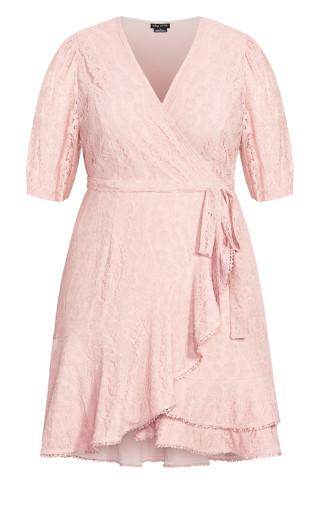 Sweetie Sleeve Dress - rose bud