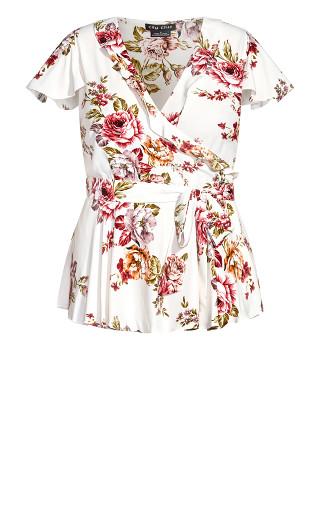 Rose Garden Top - white