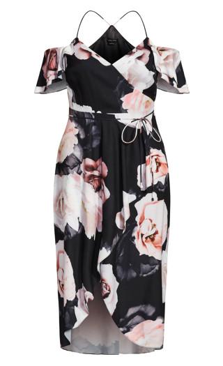 Austin Floral Maxi Dress - black