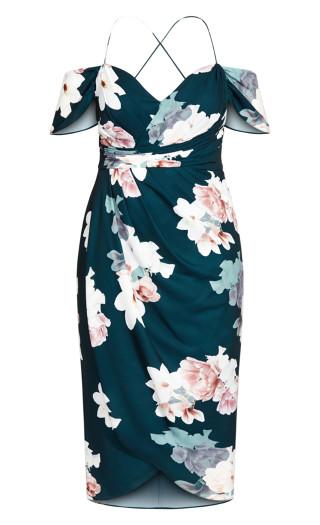 Emerald Floral Maxi Dress - emerald