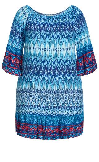 Kos Dress - aqua print
