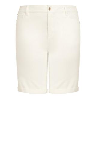 Denim Bermuda Short - white