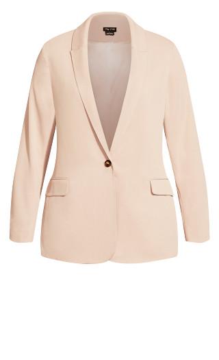 Button Blazer Jacket - dusty pink
