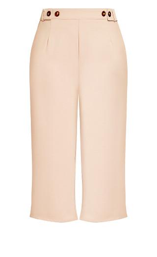Button Crop Pant - rose