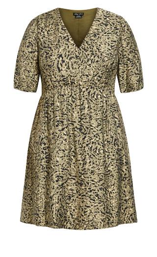 Urban Camo Dress - khaki