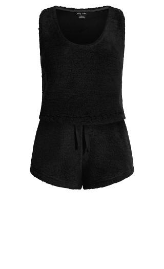Snuggle Cami Set - black