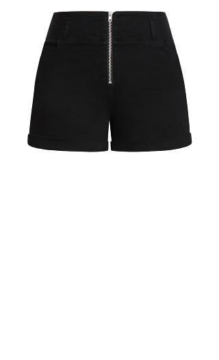 Pin Up Zip Short - black