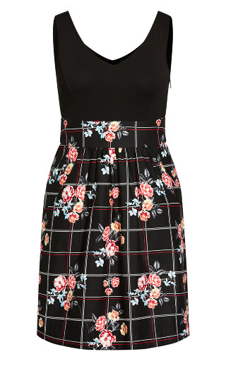 Picnic Love Dress - black