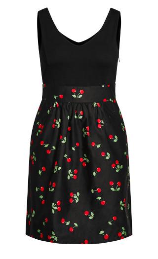 Cherry Love Dress - black