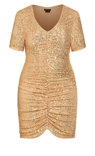 Bright Nights Dress - gold