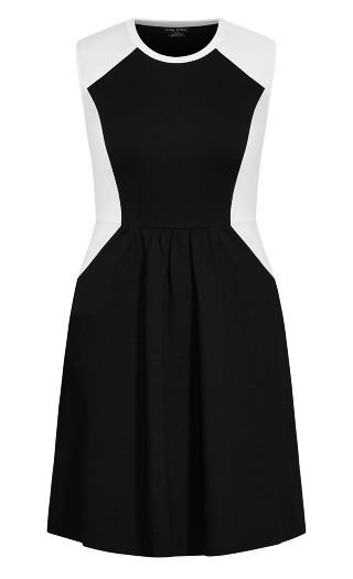 Sweet Splice Dress - black