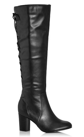 Perry Sleek Knee Boot - black