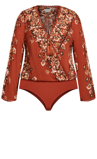 Heavenly Floral Bodysuit - bronze