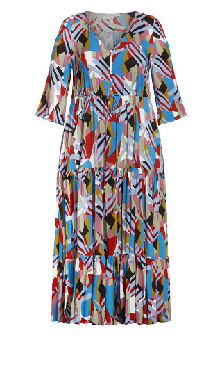 Endless Sun Maxi Dress - blue multi