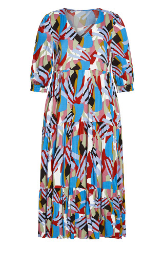 To The Max Dress - blue multi