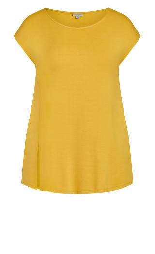 Split Front Top - yellow