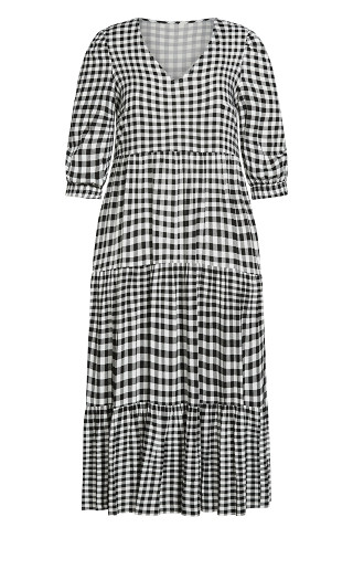 To The Max Dress - gingham