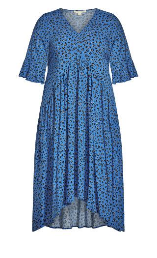 Valencia Dress - blue animal