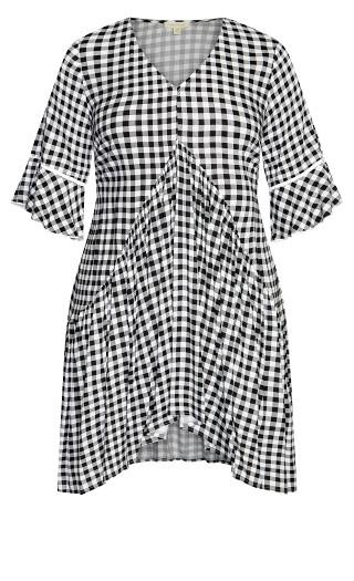 Valencia Mini Dress - gingham