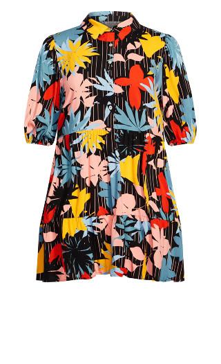 Majesty Mini Dress - multi floral