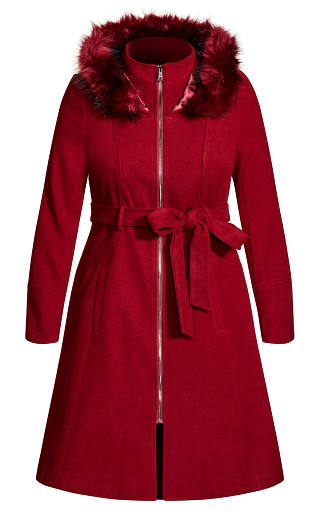 Miss Mysterious Coat - dark cherry