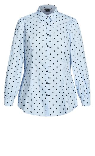 Blue Spot Shirt - blue