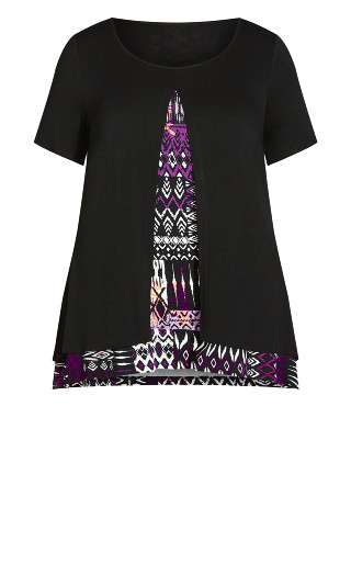 Alexia Overlay Tunic - orchid