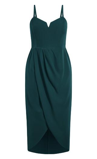 Sassy V Dress - emerald