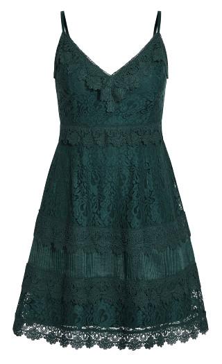 Nouveau Dress - emerald