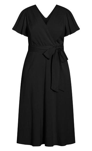 Nouveau Flutter Dress - black
