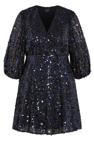 Scattered Glow Dress - royal purple