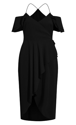 Elegant Maxi Dress - black