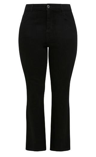 Curve Fit Bootcut Jean Black - short