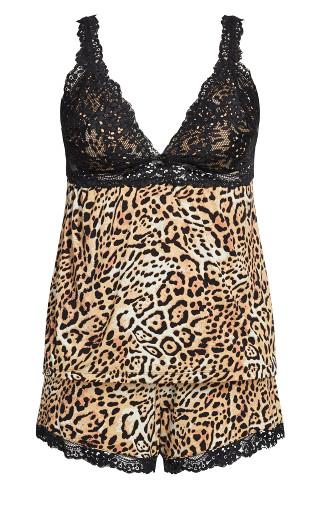 Maddie PJ Set - leopard