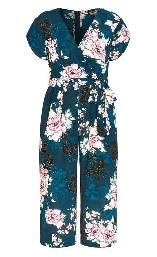 Blossom Tie Jumpsuit - jade
